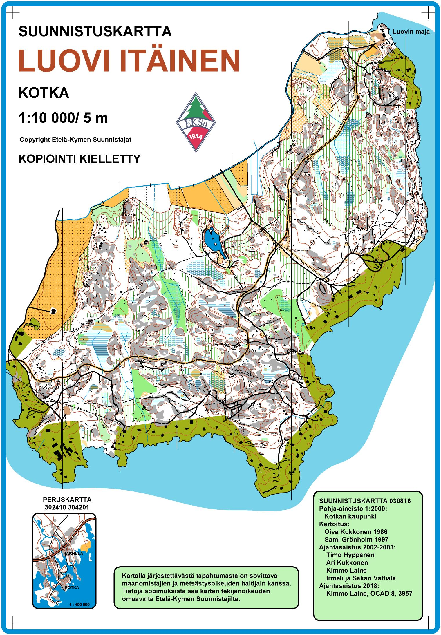 Kothamcup 4 11 2019 Luovi November 4th 2019 Orienteering Map
